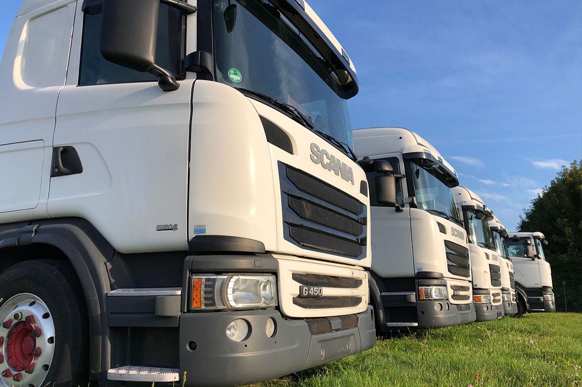Fünf LKWs