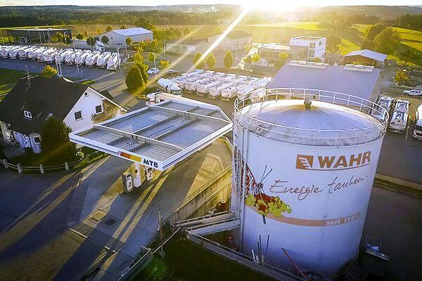 Luftaufnahme Unternehmen Fritz Wahr Energie