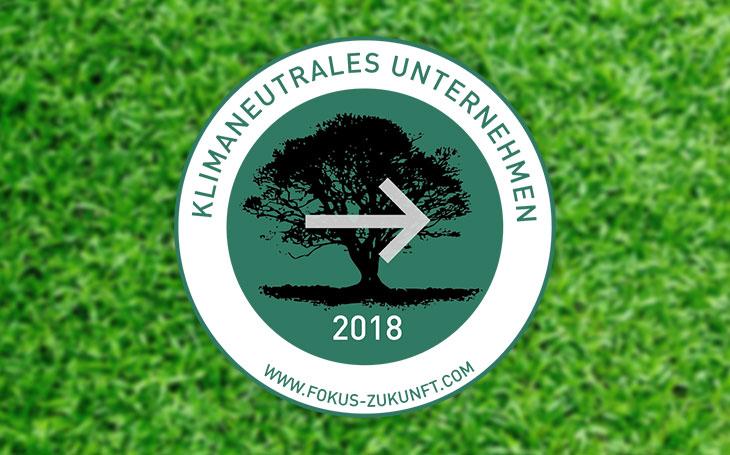 Logo für die Auszeichnung zum Klimaneutralem Unternehmen