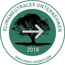 Logo Klimaneutrales Unternehmen 2018
