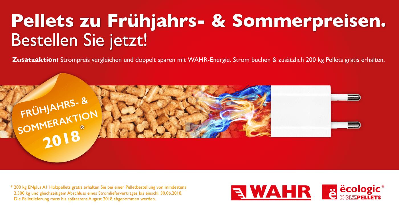 Pellets Sommeraktion von Fritz Wahr Energie