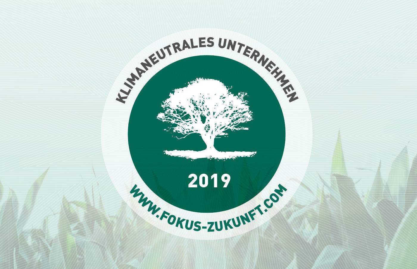 Klimaneutrales Unternehmen 2019